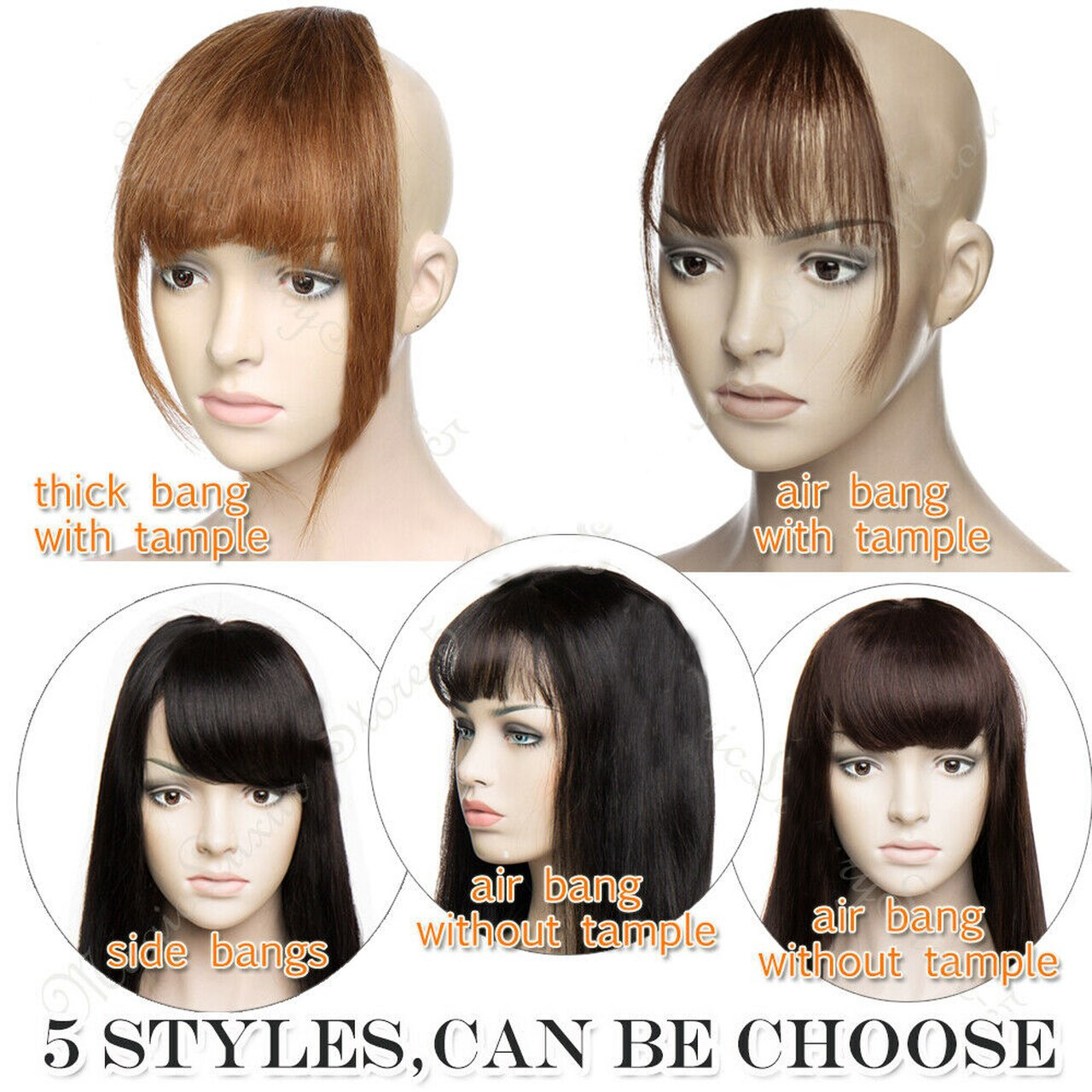 Clip In Human Hair Extensions Neat Bangs Fringe Remy Human Hairpiece 25g Or 50g 2