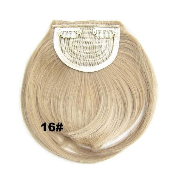 Clip In/On Neat Bangs Fringes With Temples Hair Extensions Straight 10
