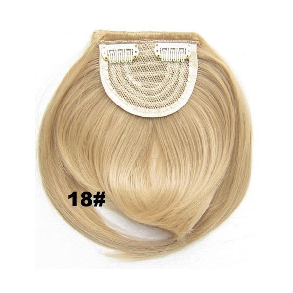 Clip In/On Neat Bangs Fringes With Temples Hair Extensions Straight 11