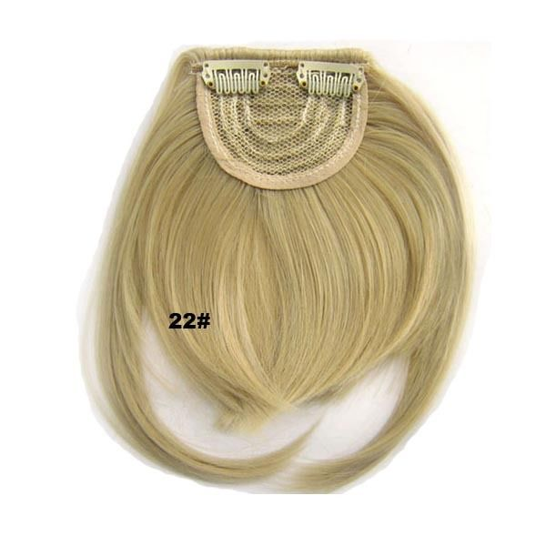 Clip In/On Neat Bangs Fringes With Temples Hair Extensions Straight 12