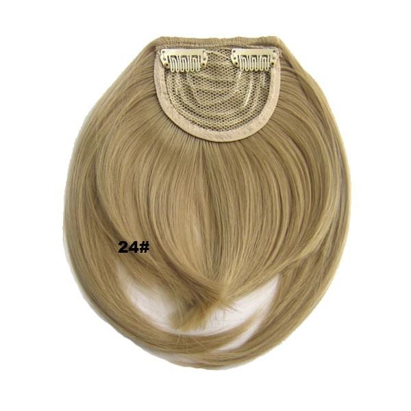 Clip In/On Neat Bangs Fringes With Temples Hair Extensions Straight 13