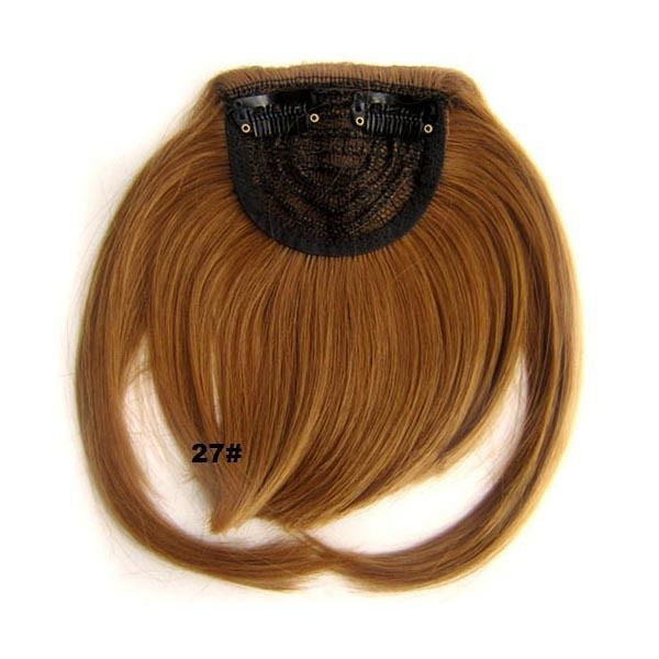 Clip In/On Neat Bangs Fringes With Temples Hair Extensions Straight 14