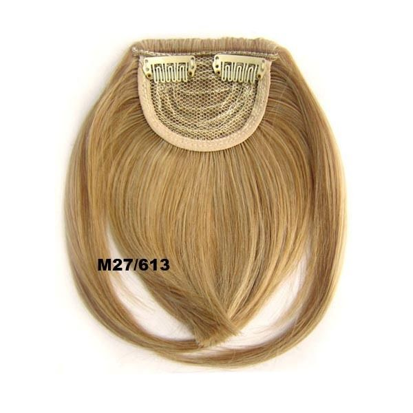 Clip In/On Neat Bangs Fringes With Temples Hair Extensions Straight 15