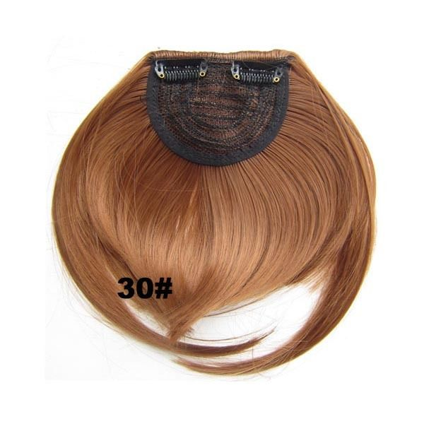 Clip In/On Neat Bangs Fringes With Temples Hair Extensions Straight 16