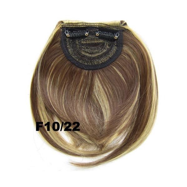 Clip In/On Neat Bangs Fringes With Temples Hair Extensions Straight 19