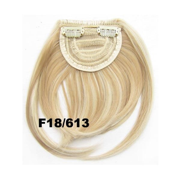 Clip In/On Neat Bangs Fringes With Temples Hair Extensions Straight 22
