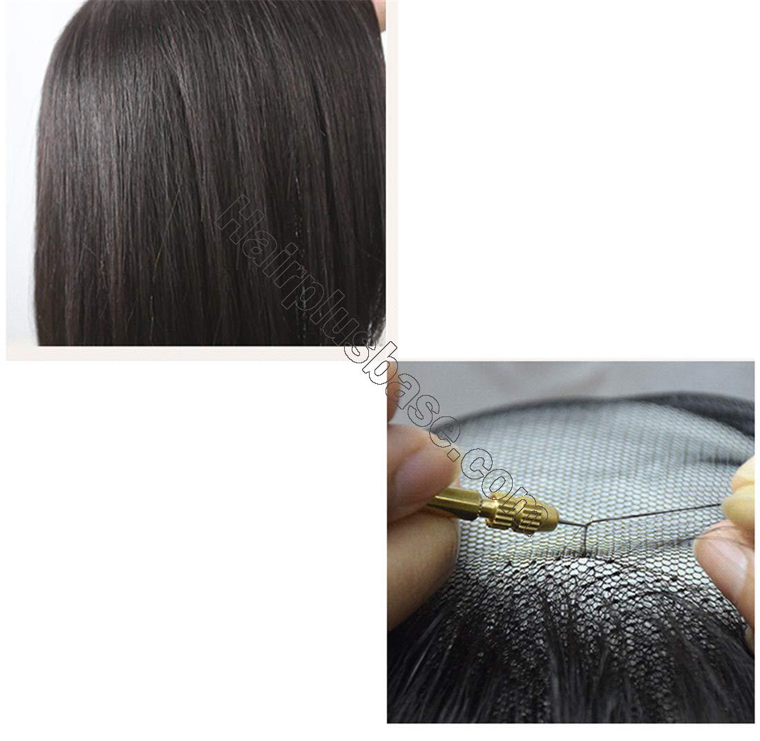 Clip in Wavy Human Hair Toppers Hairpiece for Women, 6.3 Inch x 6 Inch Thick Silk Base Crown Topper for Thinning Hair, Free Part 4