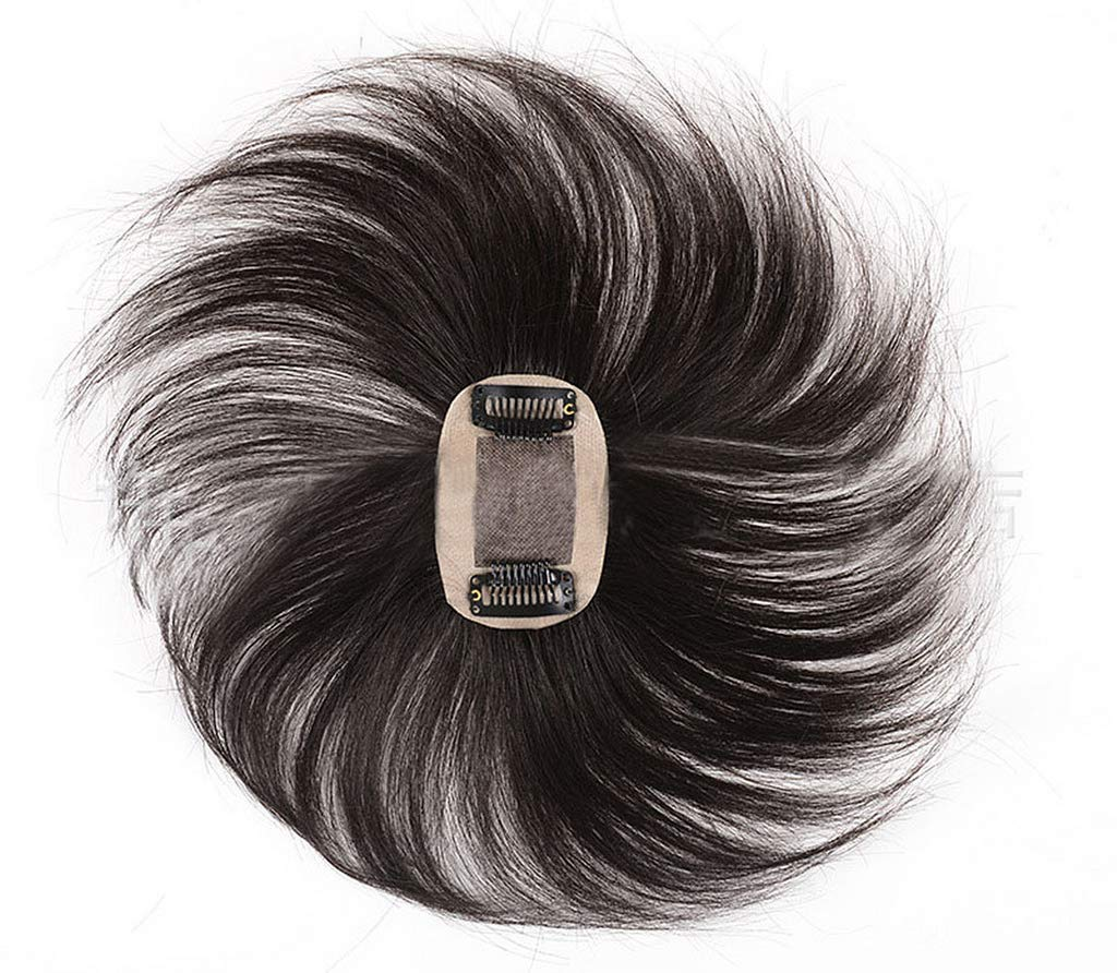 Covered With White Hair And Head Hair Scarce 100% Human Hair Top Hairpiece