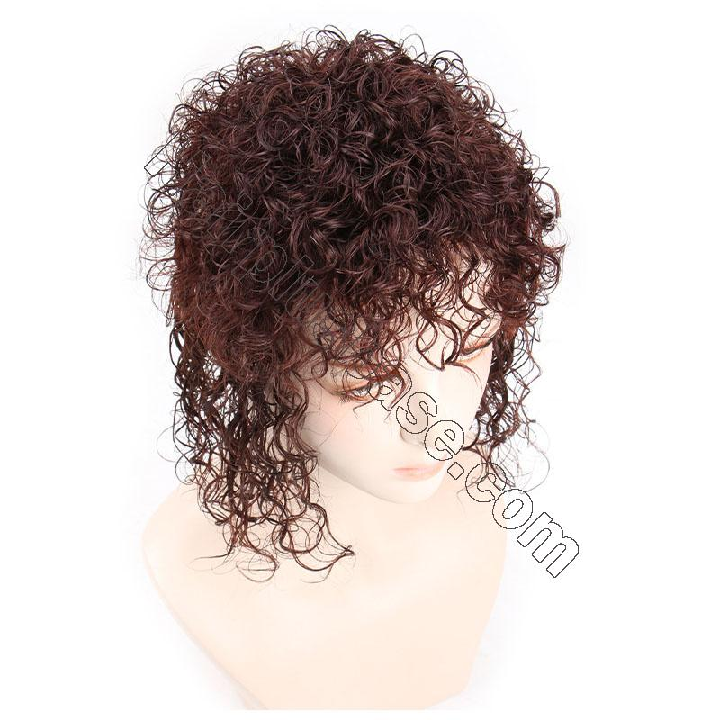 Curly Human Hair Topper Clip on Topper Wiglet for Women 3