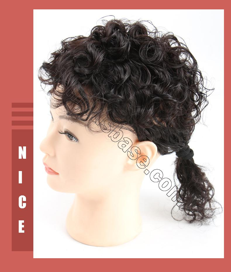Curly Human Hair Topper Clip on Topper Wiglet for Women 6