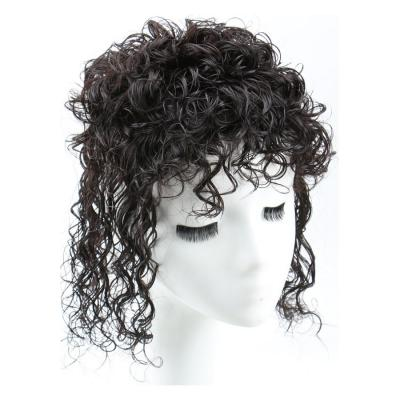 Curly Human Hair Topper Clip on Topper Wiglet for Women