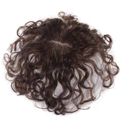 Curly Human Hair Toppers Clip in Topper Closure for Women Thin Hair