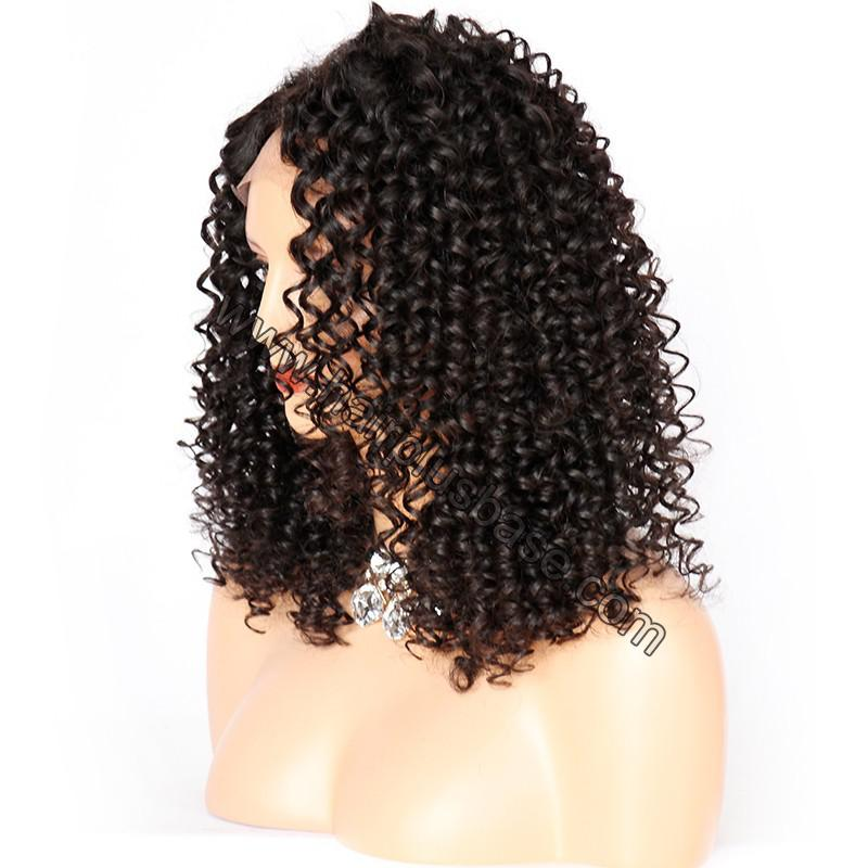 Curly Lace Front Wigs Indian Remy Hair, Natural Color 2