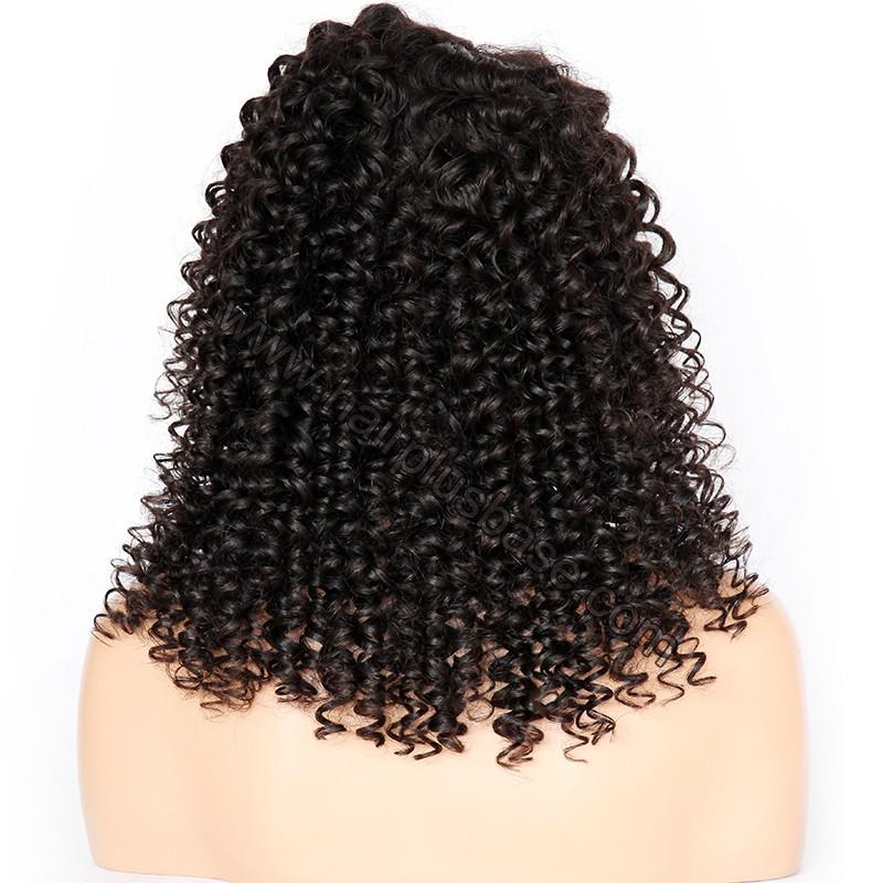 Curly Lace Front Wigs Indian Remy Hair, Natural Color 7
