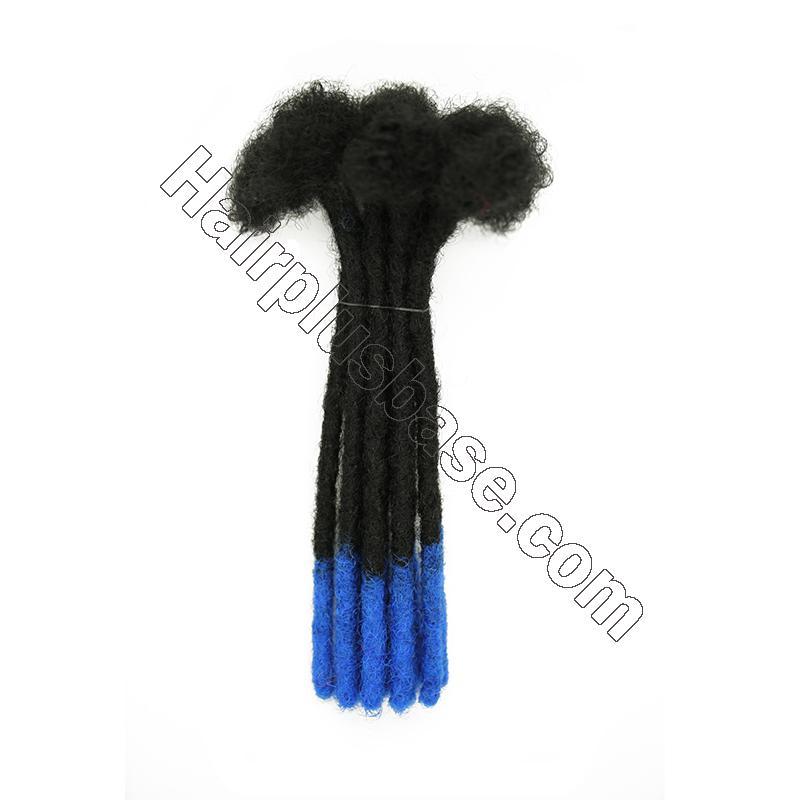 Custom 60 Strands 0.2 - 1cm Thickness Permanent Dread Extensions Human Hair Dreadlocks 8