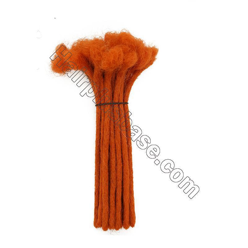 Custom 60 Strands 0.2 - 1cm Thickness Permanent Dread Extensions Human Hair Dreadlocks 10