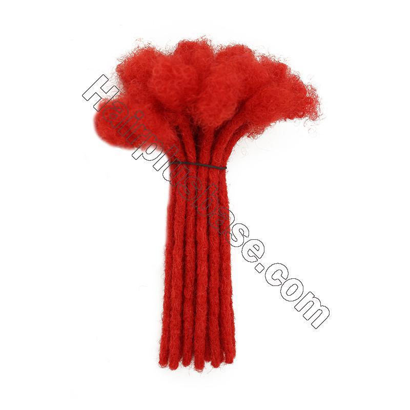 Custom 60 Strands 0.2 - 1cm Thickness Permanent Dread Extensions Human Hair Dreadlocks 11