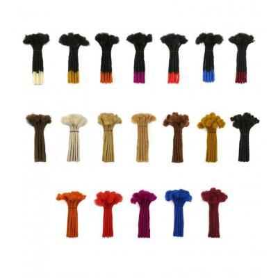 Custom 60 Strands 0.2 - 1cm Thickness Permanent Dread Extensions Human Hair Dreadlocks