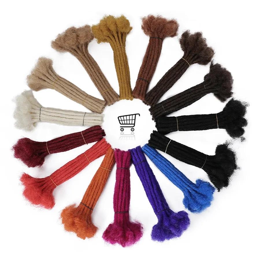 Custom 60 Strands 0.2 - 1cm Thickness Permanent Dread Extensions Human Hair Dreadlocks 13