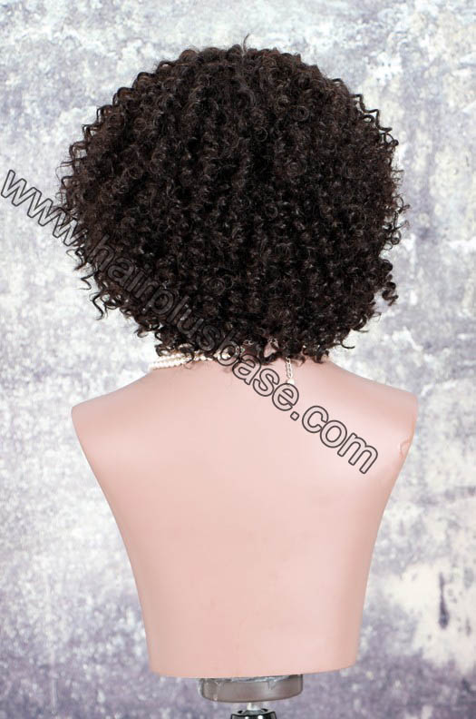Deep Left Part Lace Front Wigs Permanent Afro Curl Bob Wig Indian Remy Hair 3