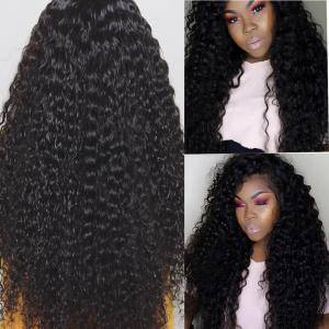 Deep Wave Human Hair Long Lace Front Wigs With Baby Hair 24-40 Inch