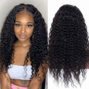 Deep Wave Lace Front Human Hair Wigs 150%-200% Density With Baby Hair