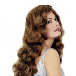 Elegant Long Lace Front Deep Wavy Human Hair Wig