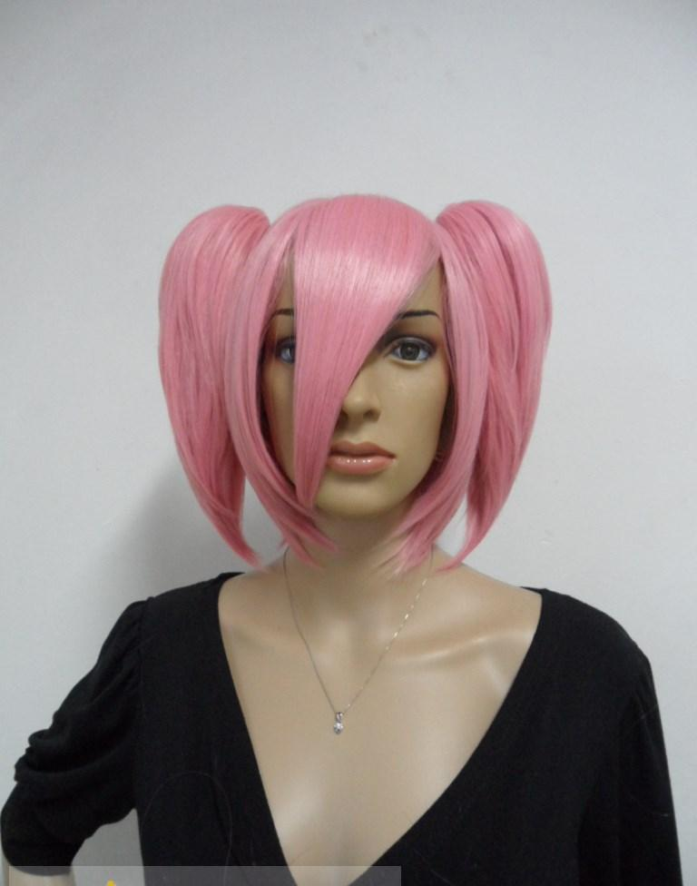 Exquisite Capless Medium Synthetic Hair Pink Straight