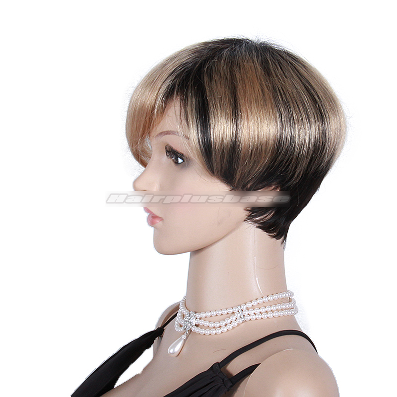 Fabulous Short Ombre Bob Hairstyle with Layers Human Hair Wigs