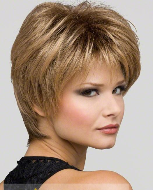 Faddish Short Straight Gray 8 Inch Synthetic Hair Wigs