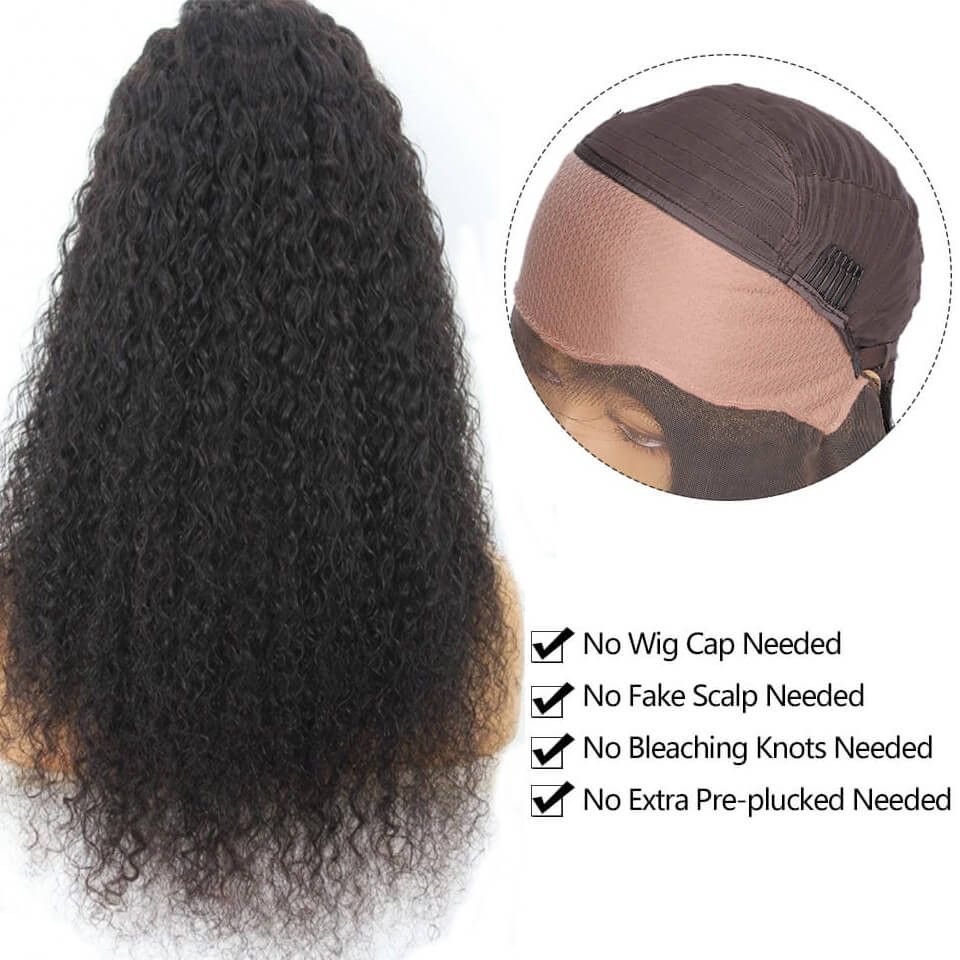 Fake Scalp Wigs Curly 13*4 Undetectable Lace Front Wigs For Women 2
