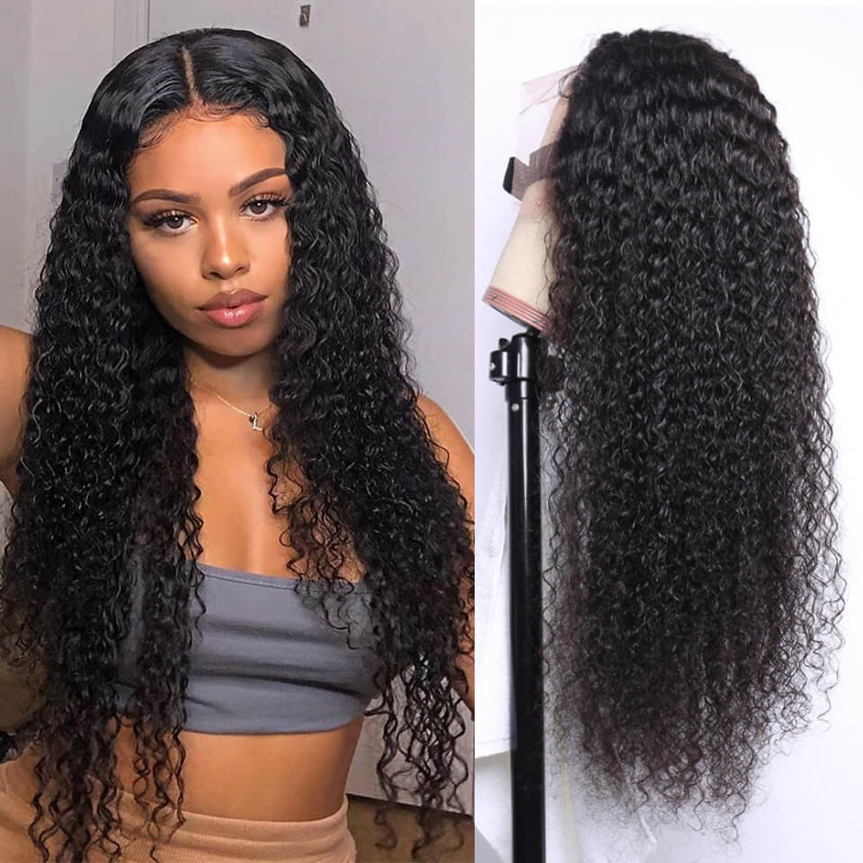 Fake Scalp Wigs Curly 13*4 Undetectable Lace Front Wigs For Women 6