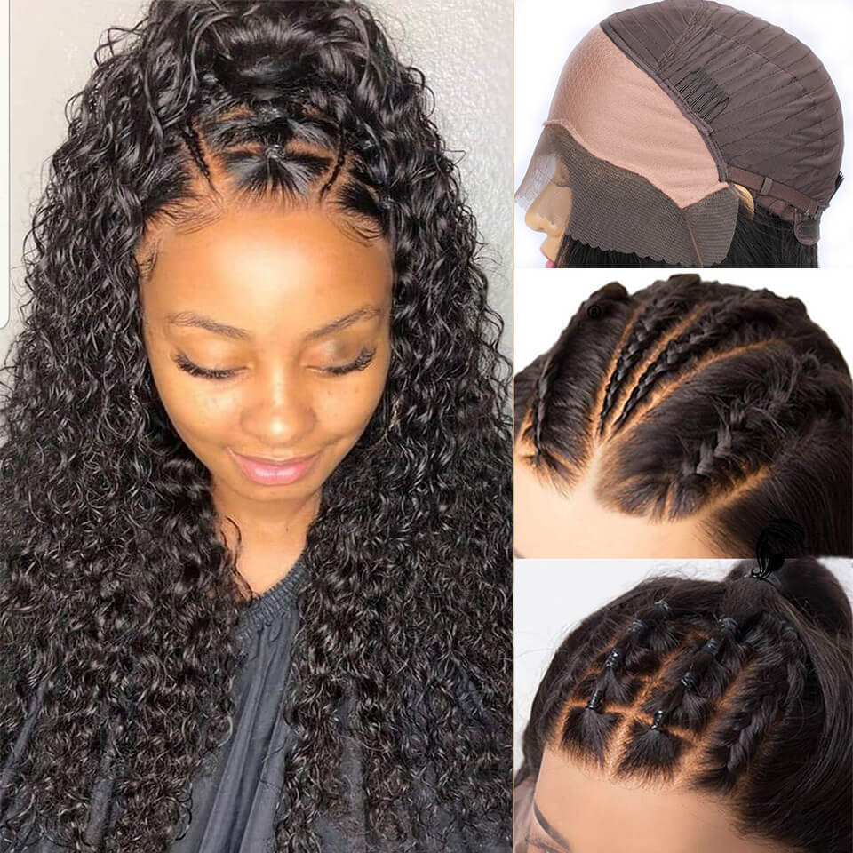 Fake Scalp Wigs Curly 13*4 Undetectable Lace Front Wigs For Women 8