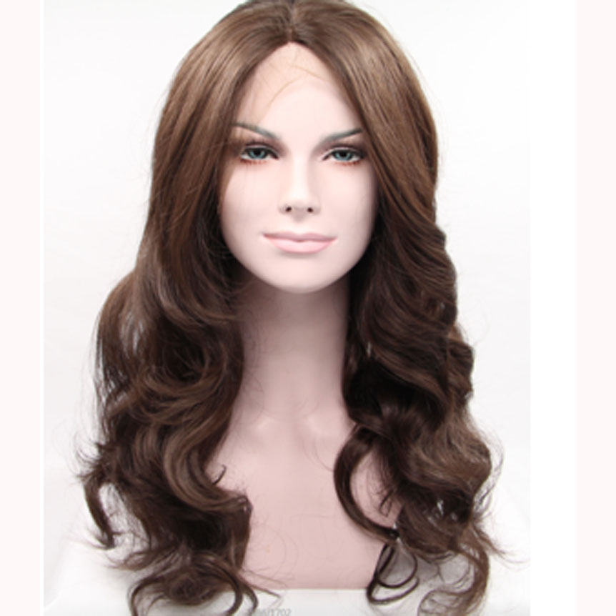 Fashion Brown Wave Synthetic Lace Front Wigs