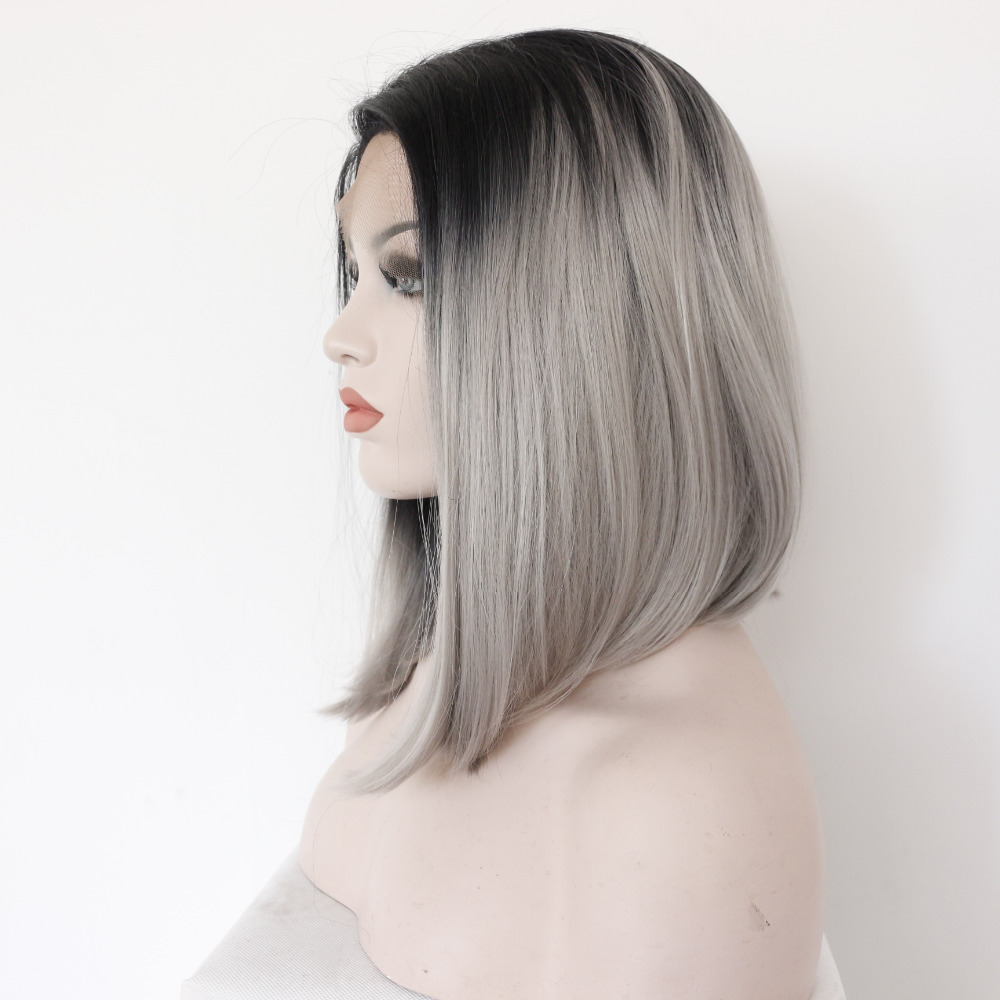 Fashion Medium Ombre Bob Lace Front Wig