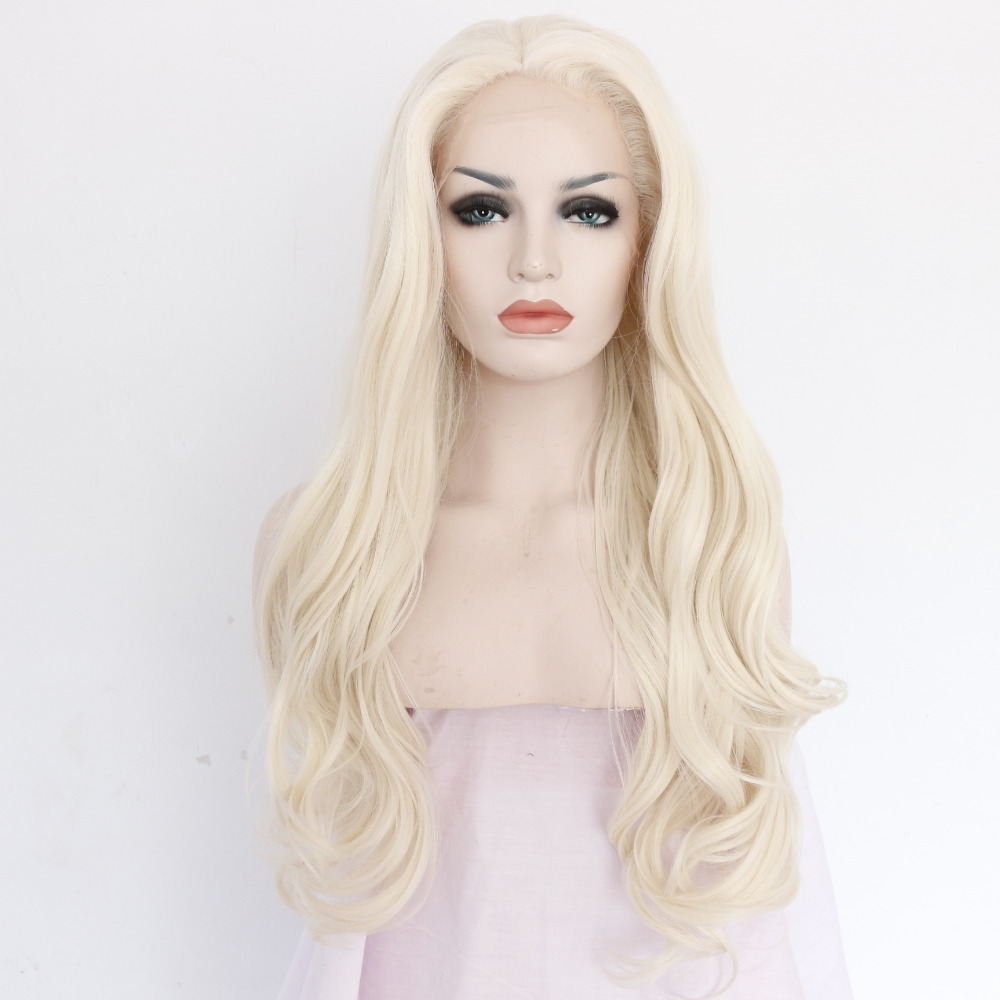 Fashion Wavy Blonde Front Lace Wig for Women