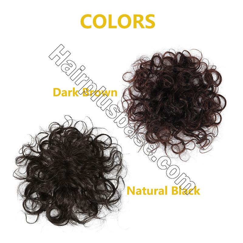 Full Handmade Mono Top Hair Piece Curly Human Hair Toppers for Women 4