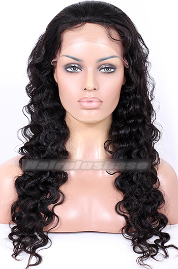 24 Inch Chinese Virgin Hair Deep Body Style Full Lace Wigs