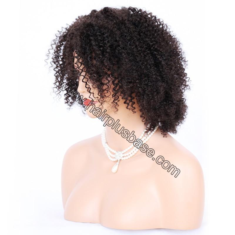 Full Lace Wigs Indian Remy Hair Afro Kinky Curl 4