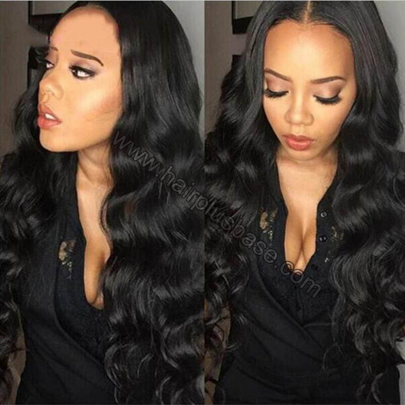 Full Lace Wigs Indian Remy Hair Body Wave