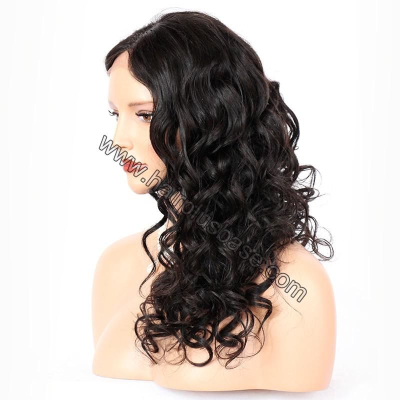 Full Lace Wigs Indian Remy Hair Loose Wave 4