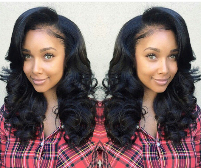 Full Lace Wigs Malaysian Virgin Hair Wavy 0