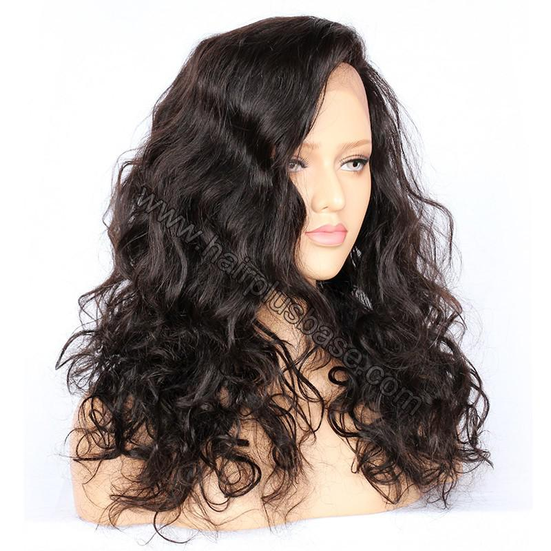 Full Lace Wigs Malaysian Virgin Hair Wavy 4