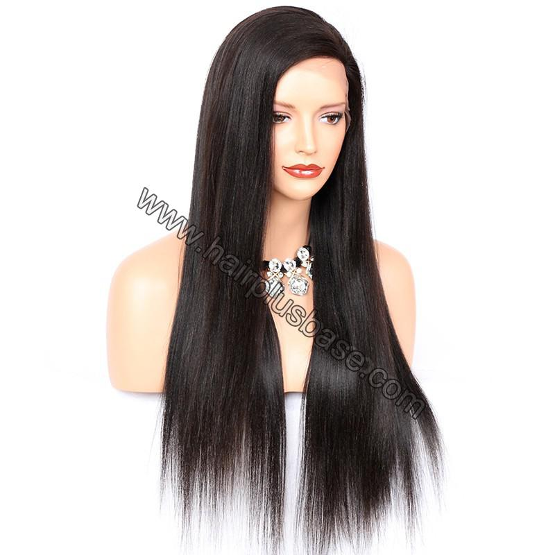 Full Lace Wigs Malaysian Virgin Hair Yaki Straight Side Part 2