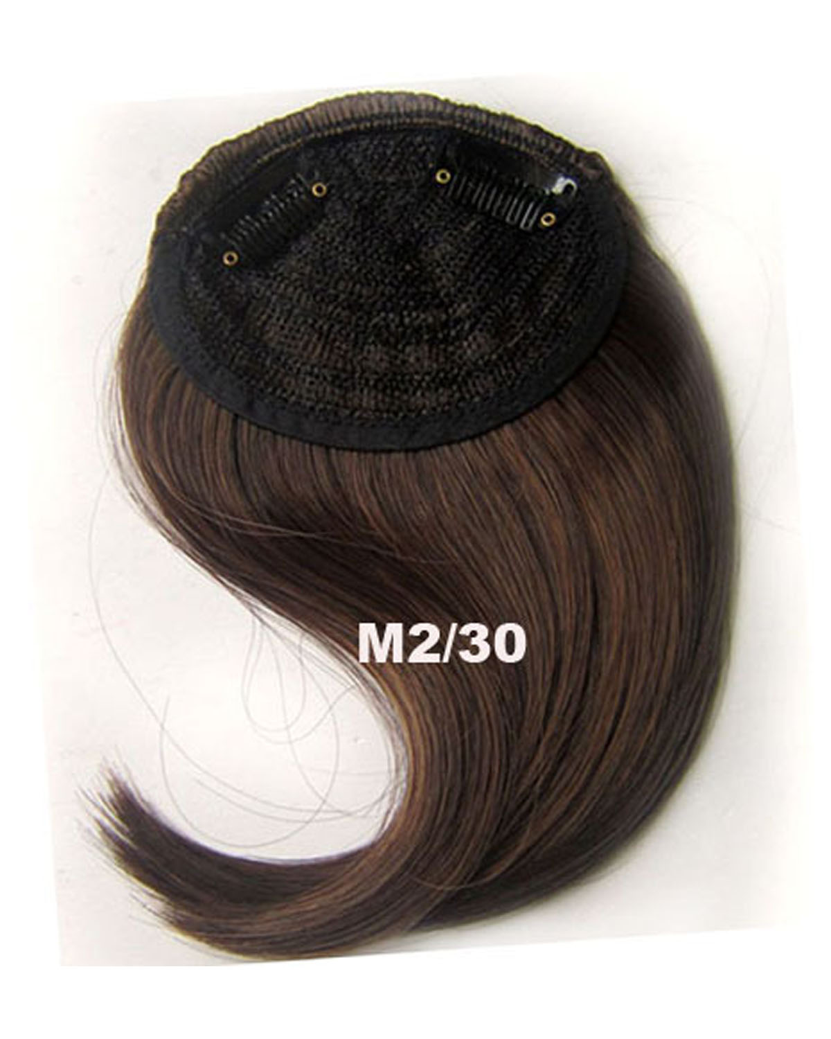 Girls Adjustable Straight Short Bangs Clip in Synthetic Hair Extension Fringe Bangs HairpieceM2/30#