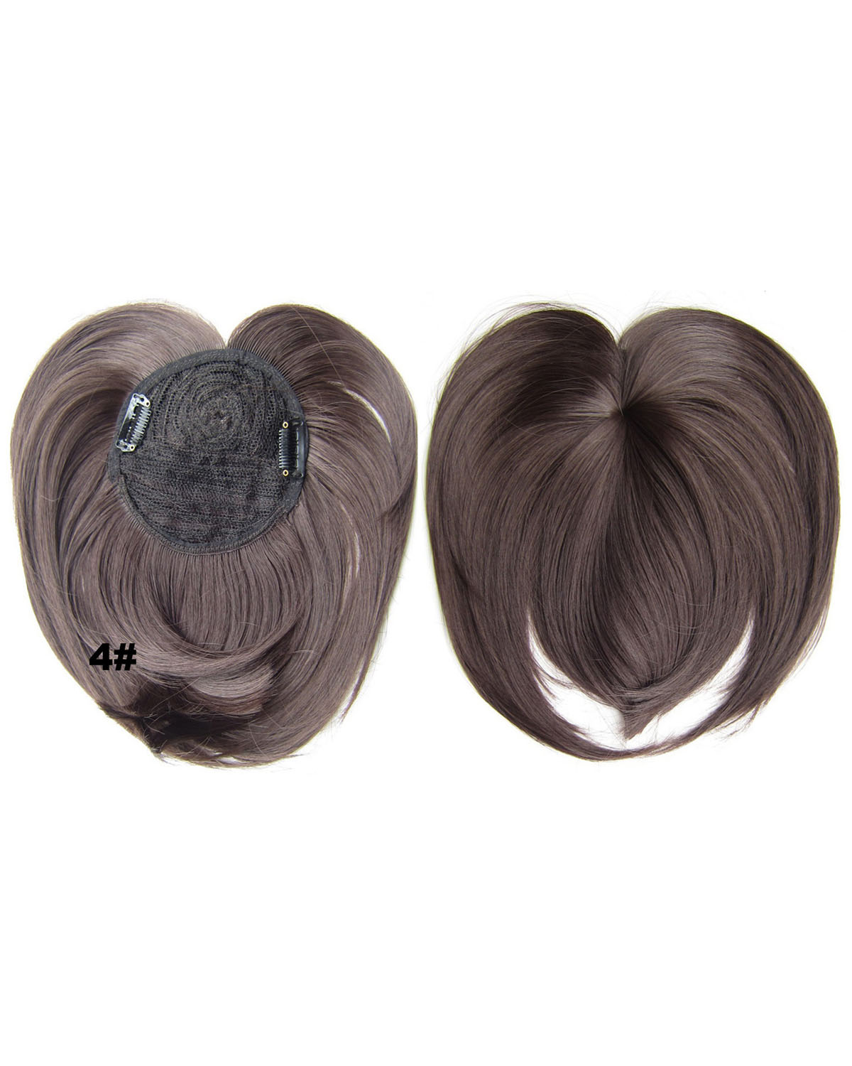 Girls Amazing Straight Short Bangs Clip in Synthetic Hair Extension Fringe Bangs Hairpiece 4#