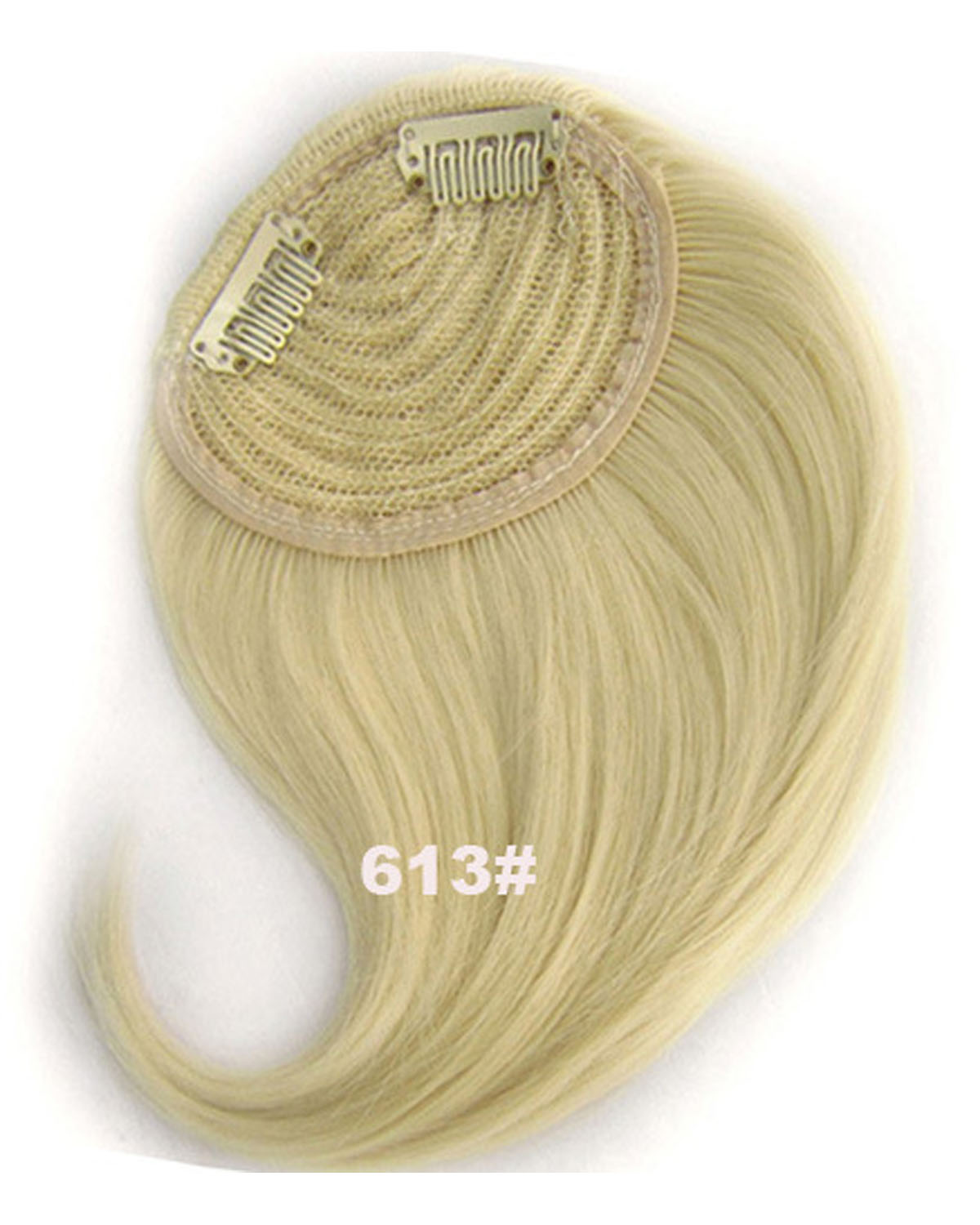 Girls Excellent Straight Short Bangs Clip in Synthetic Hair Extension Fringe Bangs Hairpiece613#