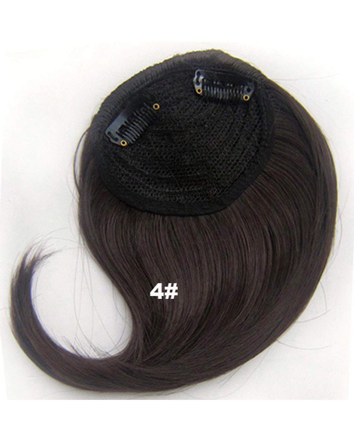 Girls  Faddish Straight Short Bangs Clip in Synthetic Hair Extension Fringe Bangs Hairpiece 4#