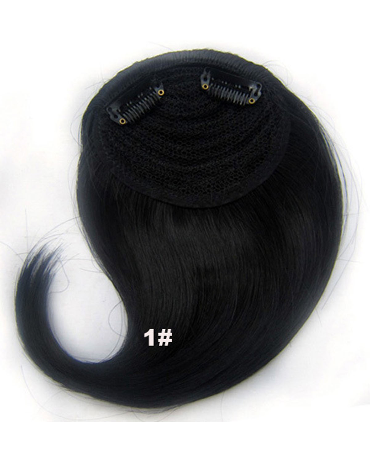 Girls Fashionable Straight Short Bangs Clip in Synthetic Hair Extension Fringe Bangs Hairpiece1#