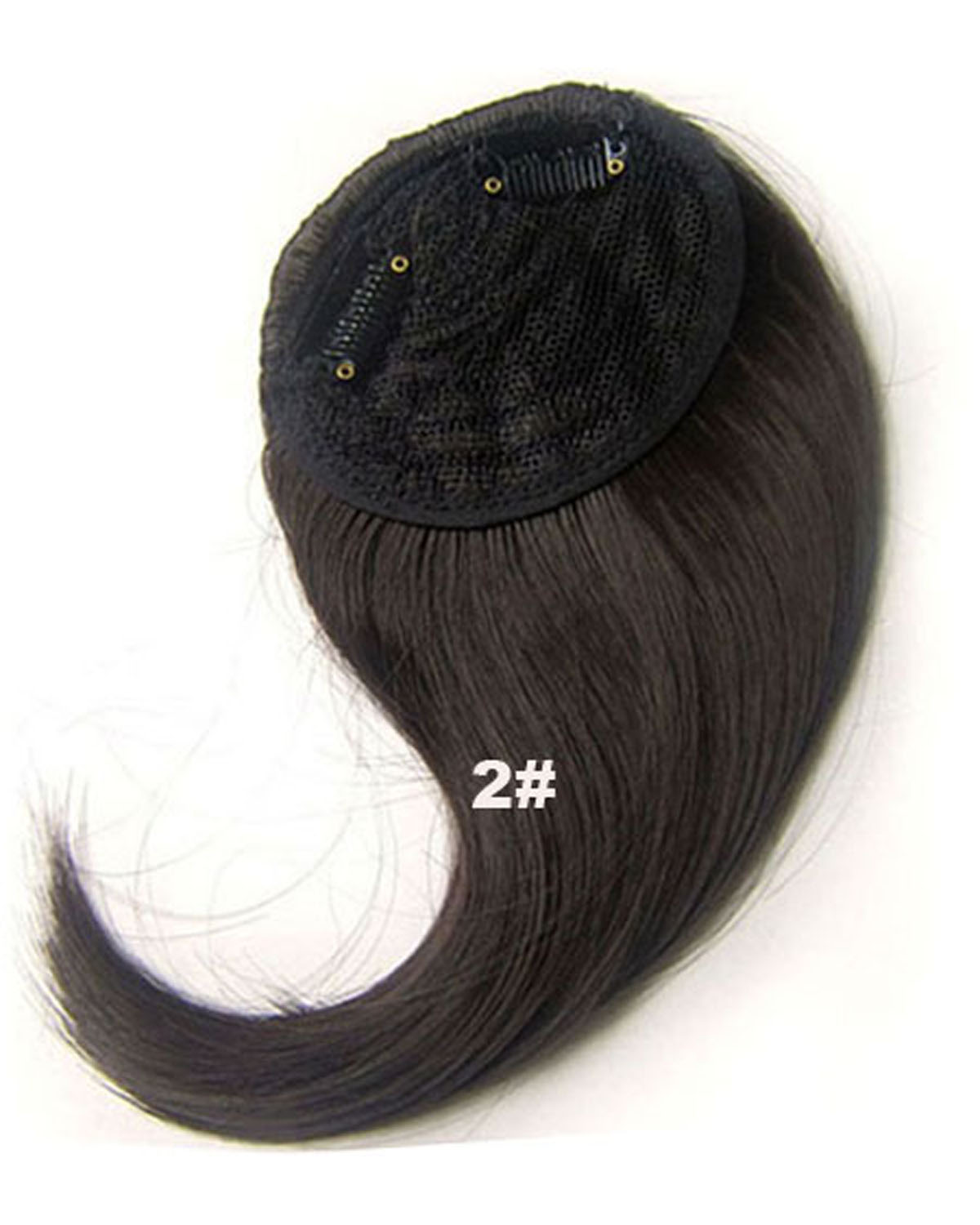 Girls Glamour Straight Short Bangs Clip in Synthetic Hair Extension Fringe Bangs Hairpiece2#